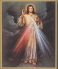 Divine Mercy - Spanish Gold Framed Print