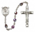 St. Louise de Marillac Rosary Heirloom Squared Crucifix