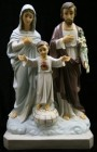 Holy Family Statue Hand Painted Marble Composite - 23.5 inch