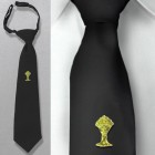 Boys Gold Chalice Black First Communion Tie