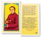 St. John Neumann Pray For Us Laminated Prayer Cards 25 Pack