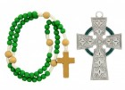Irish Celtic Baby Cross and Rosary Set