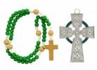 Irish Celtic Baby Cross and Rosary Set