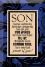 Son Glass Plaque