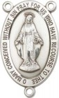 Traditional Miraculous Medal Rosary Centerpiece