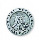St. Therese Silver Lapel Pin