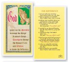 The Difference Serenity Laminated Prayer Cards 25 Pack