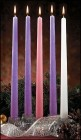 Advent Candles - 5 Piece Set 12 inch