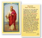 St. Paul Prayer For Patience Laminated Prayer Cards 25 Pack