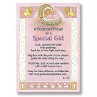 Baptism Prayer Greeting Card - Girl