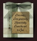 Live Love Speak Leave Wall Plaque
