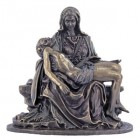 Bronzed Resin Pieta Statue - 5 Inches