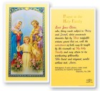 Holy Family Laminated Prayer Cards 25 Pack