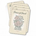 Treasured Friend Prayer Cards - pack of 25