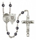Men's Guardian Angel Coast Guard Silver Plated Rosary