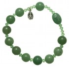 Genuine Gemstone Rosary Bracelet - 10mm, 11 Types Available