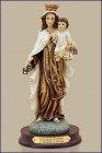 "Our Lady of Mount Carmel Statue - 12""H"