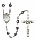 Men's St. Andre Bessette Silver Plated Rosary