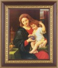 Madonna and Child Holding Veil Framed Print