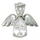 Angel Pin- April Birthstone