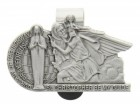 "Our Lady of the Highway and St. Christopher Visor Clip, Pewter - 2 1/2""W"