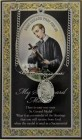St. Gerard Majella Medal in Pewter with Bi-Fold Prayer Card