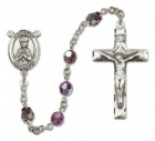 St. Henry II Sterling Silver Heirloom Rosary Squared Crucifix