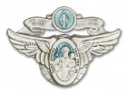 Our Lady of the Highway & St Joseph Visor Clip