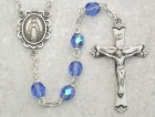December Birthstone Rosary (Zircon) - Sterling Silver