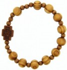 Jujube Light Wood Rosary Bracelet - 10mm