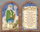 St. Patrick Diptych Standing Prayer Plaque