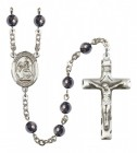 Men's St. Catherine of Siena Silver Plated Rosary