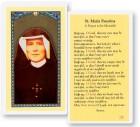 Prayer To St. Maria Faustina Laminated Prayer Cards 25 Pack