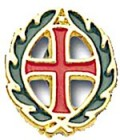 Cross and Crown Pin
