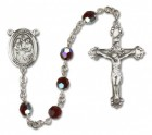 Holy Family Sterling Silver Heirloom Rosary Fancy Crucifix
