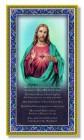 Sacred Heart of Jesus Italian Prayer Plaque