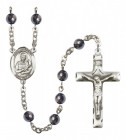 Men's St. Lawrence Silver Plated Rosary