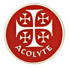 Acolyte Jerusalem Cross Lapel Pin