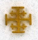 Jerusalem Cross Lapel Pin - 12 per order