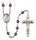 Men's St. Genesius of Rome Silver Plated Rosary