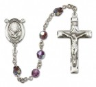 Holy Spirit Rosary Heirloom Squared Crucifix