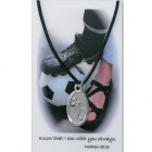 Boy's St. Christopher Soccer Medal with Leather Chain and Prayer Card