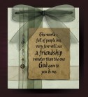 The World Is Full of People Friendship Wall Plaque - Multi-Color