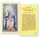 Oracion A Nuestra Senora  De La Providencia Laminated Spanish Prayer Cards 25 Pack
