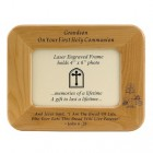"First Communion Maple Wood ""Grandson"" Photo Frame"