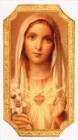 Immaculate Heart of Mary Plaque 9 Inches