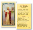St. Barbara Prayer Biography Laminated Prayer Cards 25 Pack