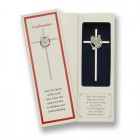 Confirmation Cross Silver Plated 7 inch