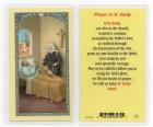 St. Emily Laminated Prayer Cards 25 Pack