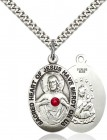 Classic Oval Scapular Pendant with Birthstone Options